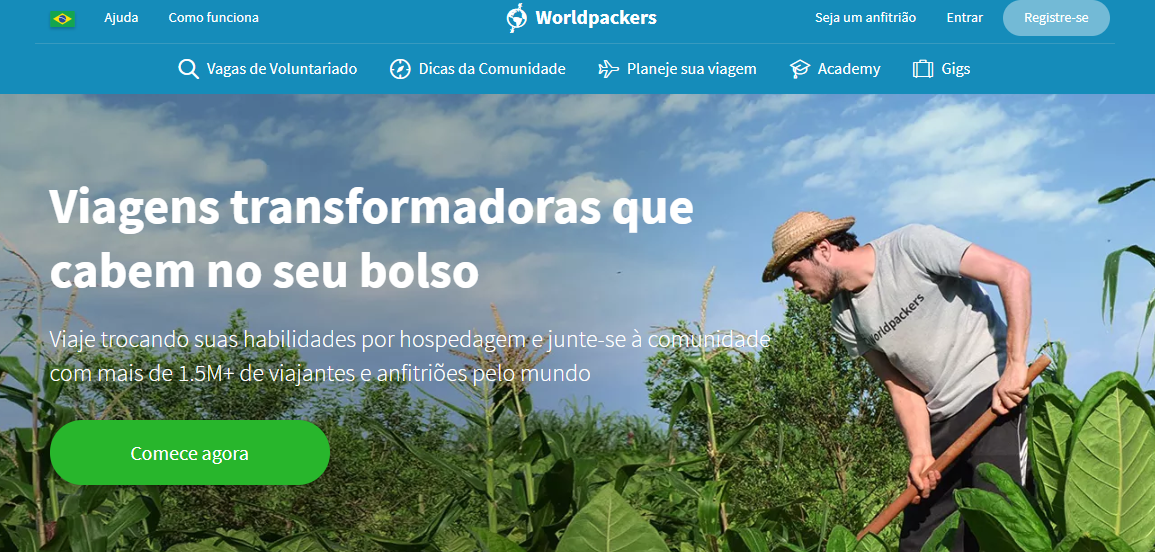 home page do worldpackers