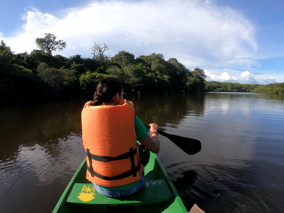 canoagem na amazônia
