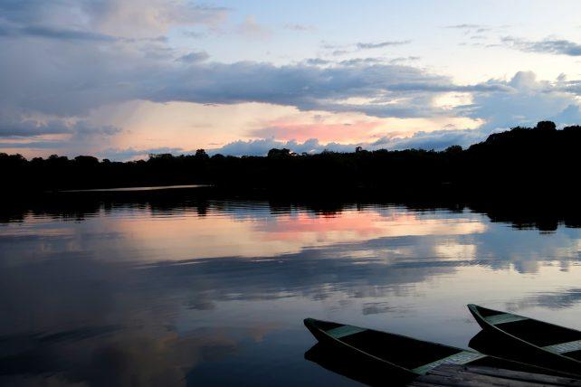 vista do hotel de selva na amazônia