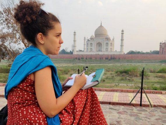 como fazer um diário de viagem