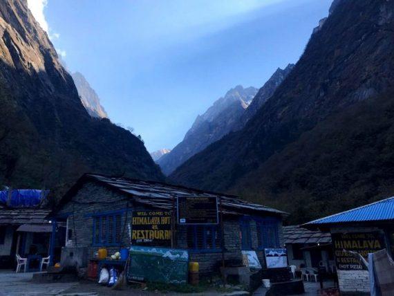 restaurante e hospedaria na trilha do annapurna