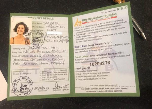permit do nepal tourism board