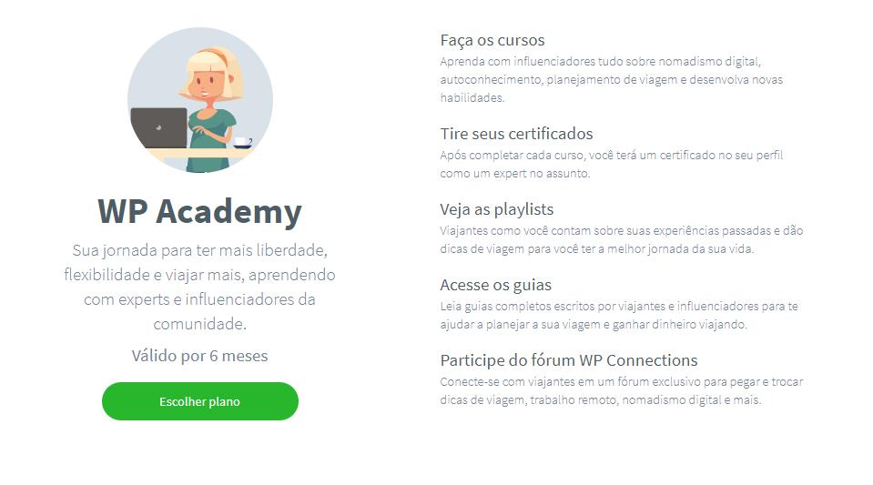 benefícios da worldpackers academy